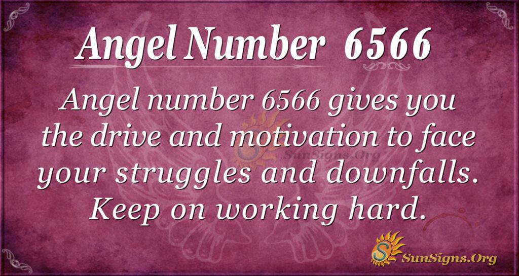 Angel number 6566