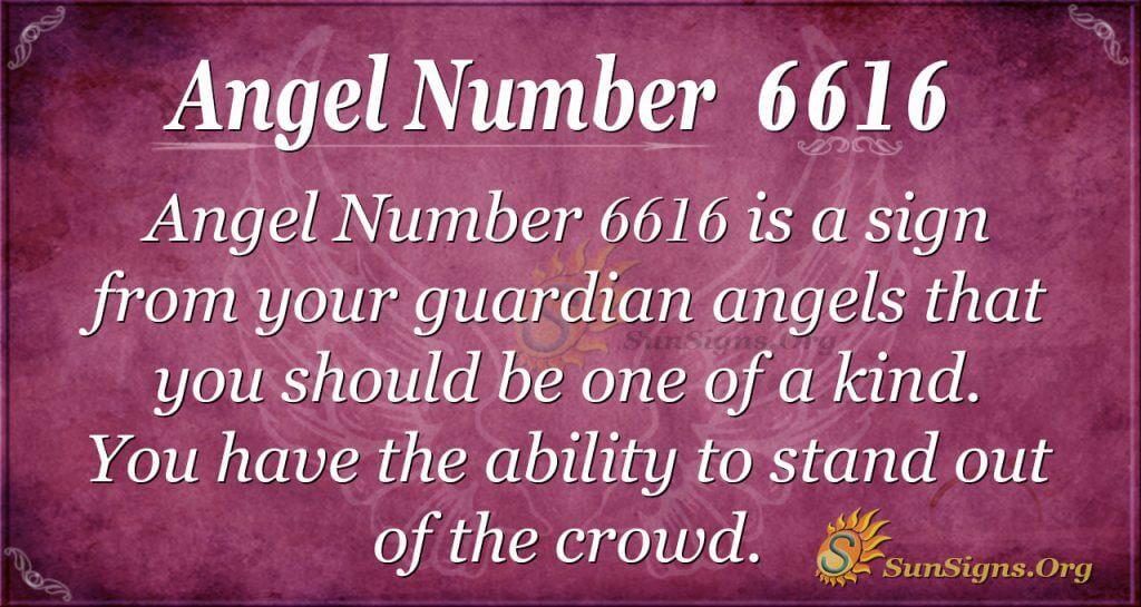Angel number 6616