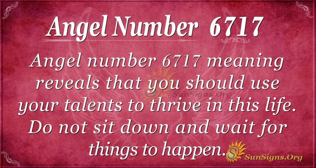 Angel number 6717