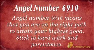 Angel number 6910