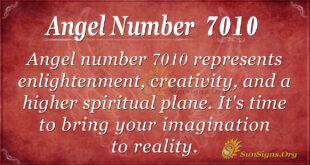 Angel number 7010