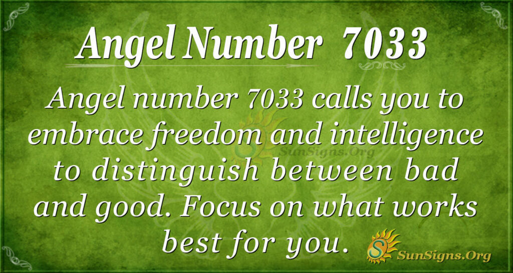 Angel number 7033