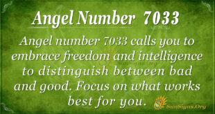 Angel number 7033