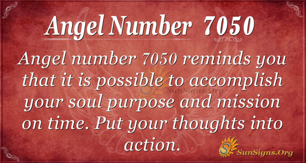 Angel number 7050