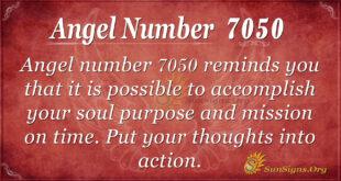 Angel number 7050