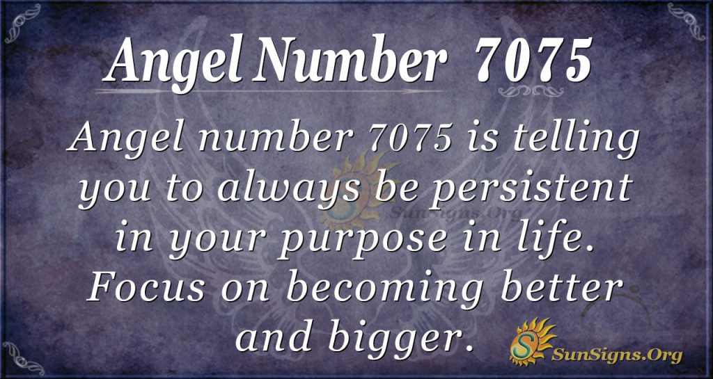 Angel number 7075