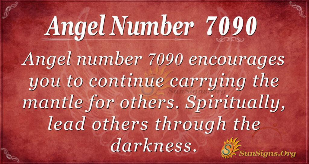 Angel number 7090