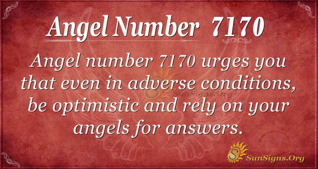 Angel Number 7170