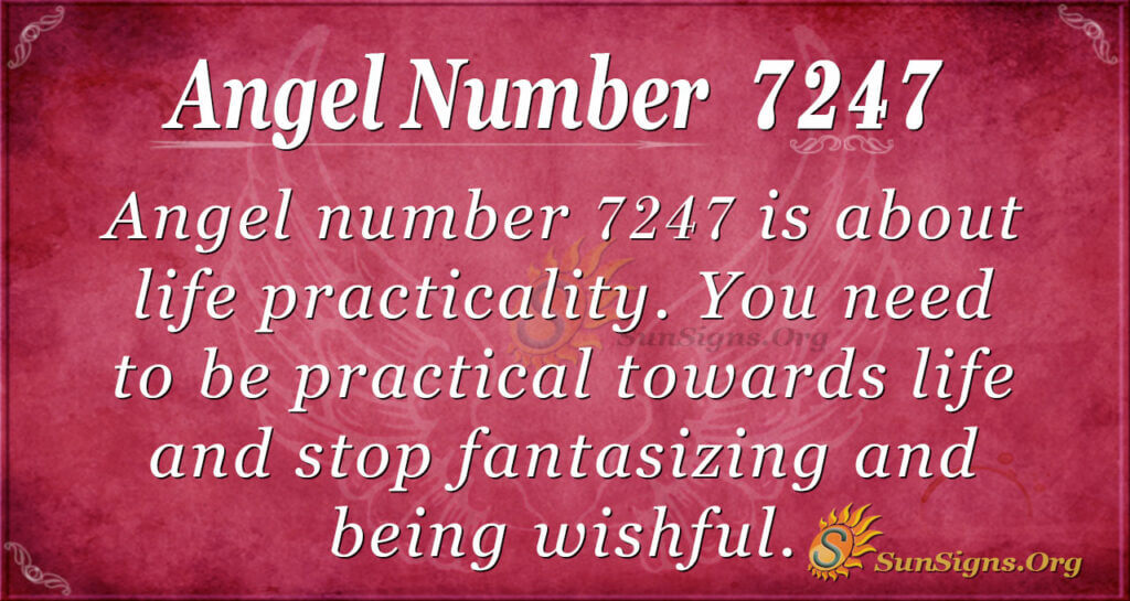 Angel number 7247