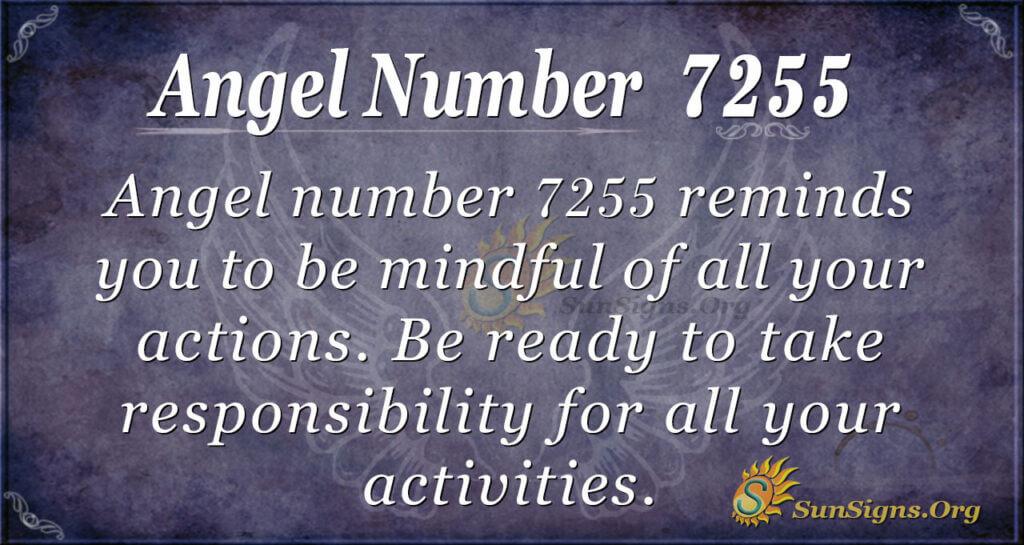 Angel number 7255
