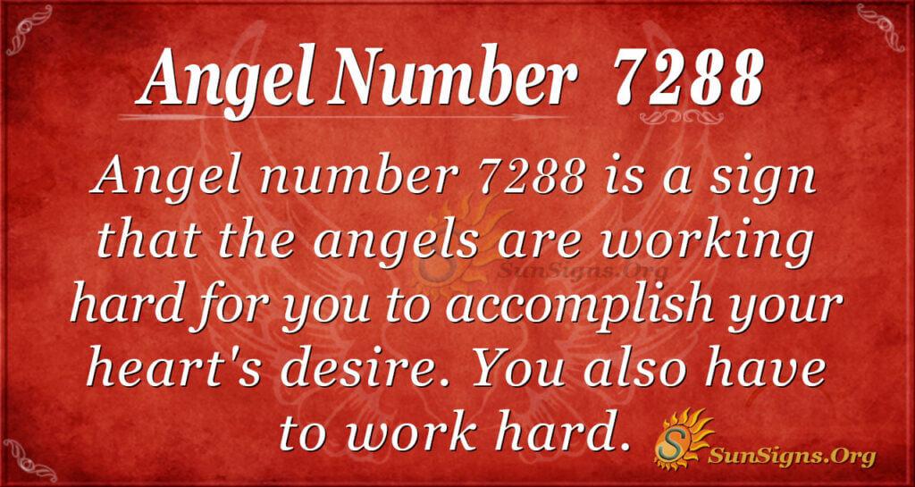 Angel number 7288