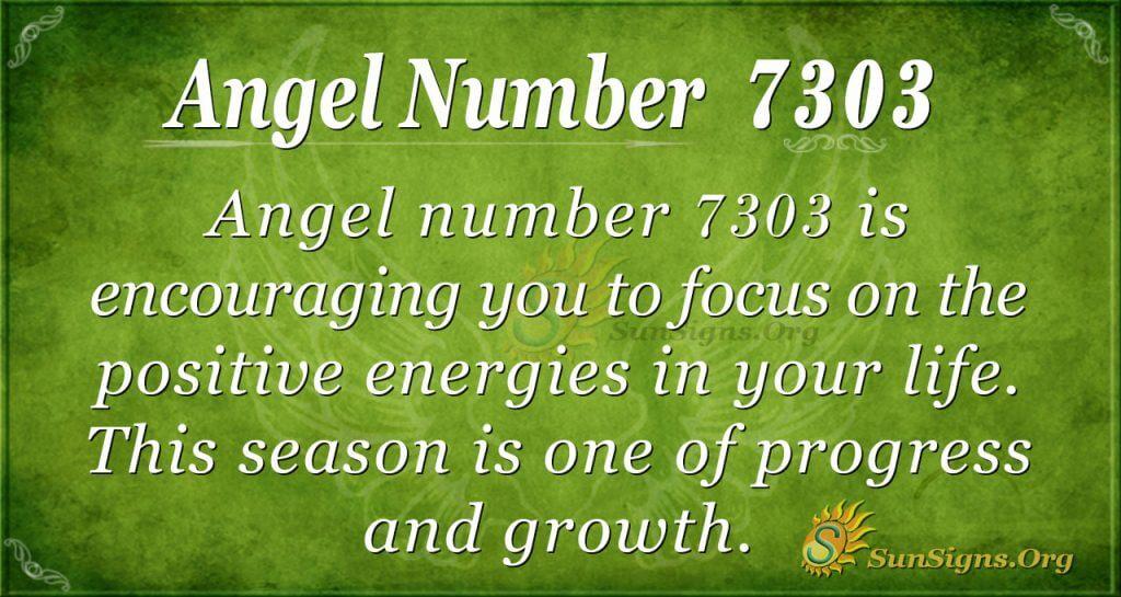 Angel number 7303