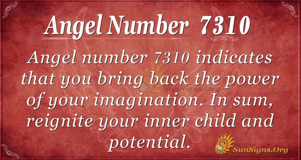 Angel number 7310