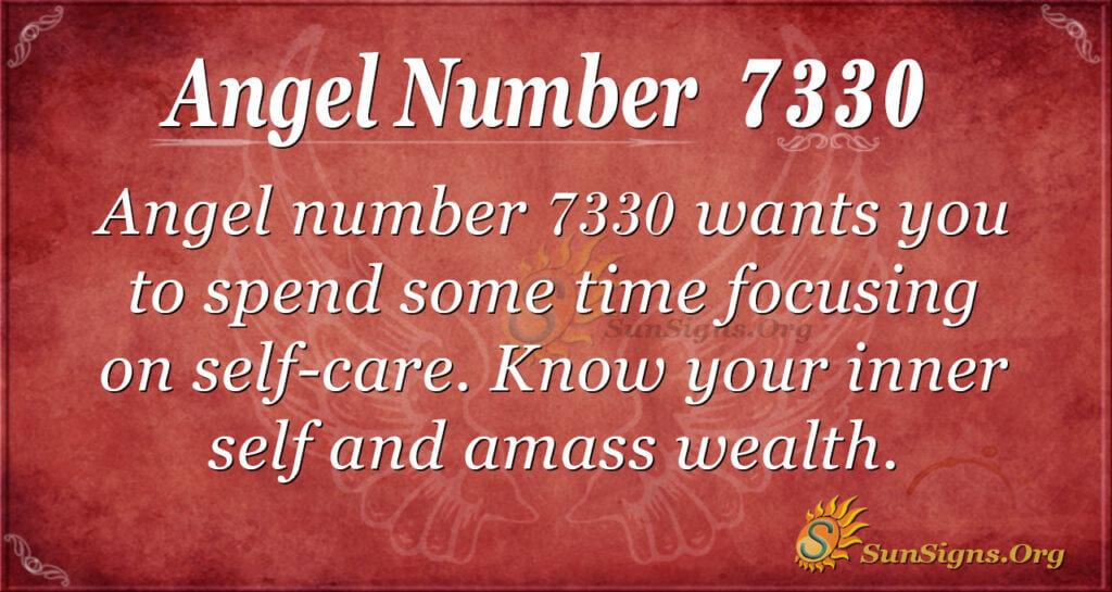 Angel number 7330
