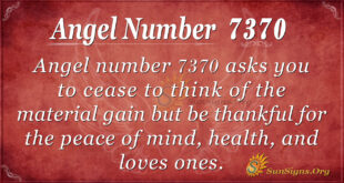 Angel number 7370