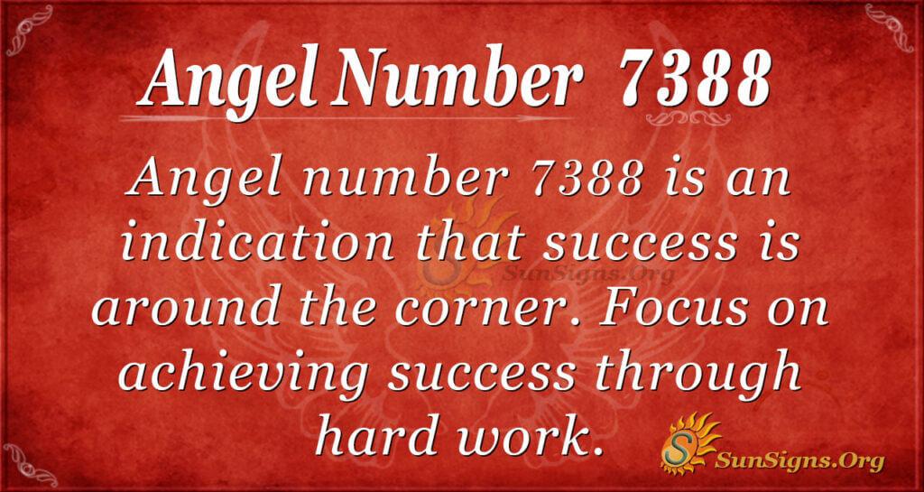 Angel number 7388