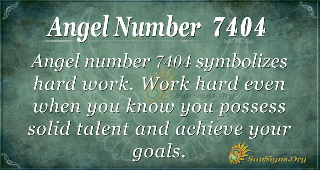 Angel number 7404