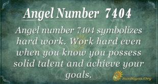 Angel number 7404