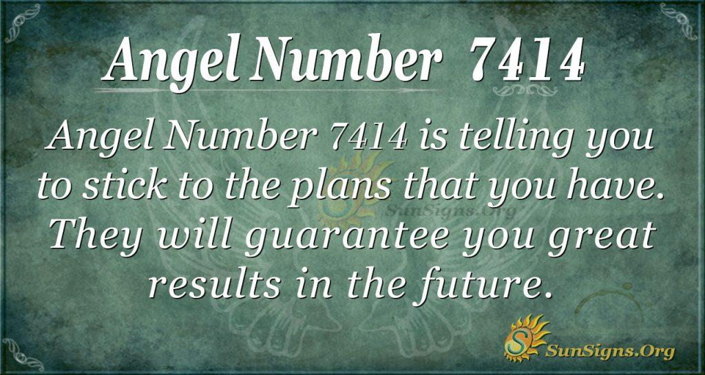 Angel number 7414