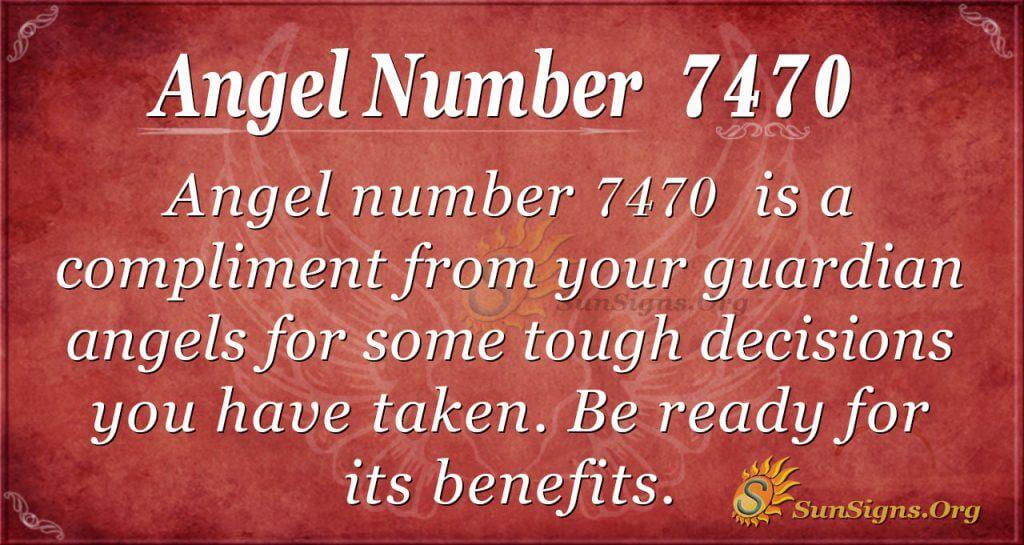 Angel number 7470