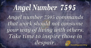 Angel number 7595