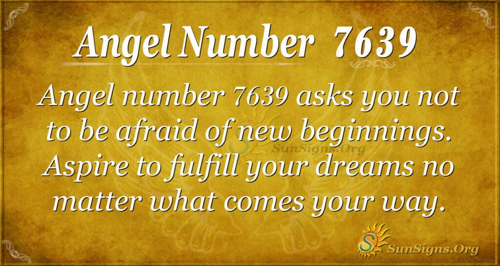 Angel number 7639
