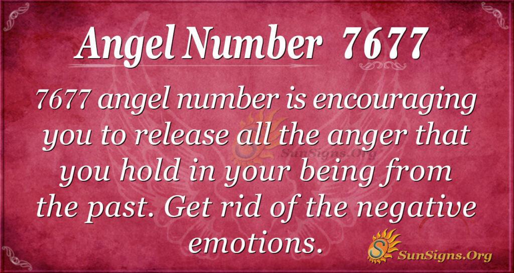Angel number 7677