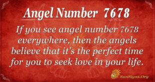 Angel number 7678