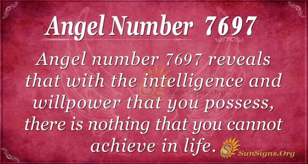 Angel number 7697