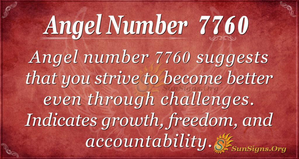 Angel number 7760