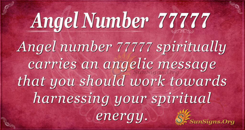 Angel number 77777