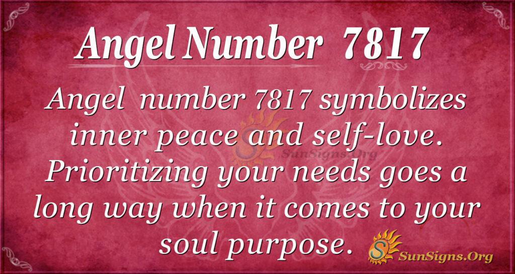 Angel Number 7817