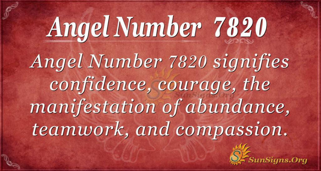 7820 angel number