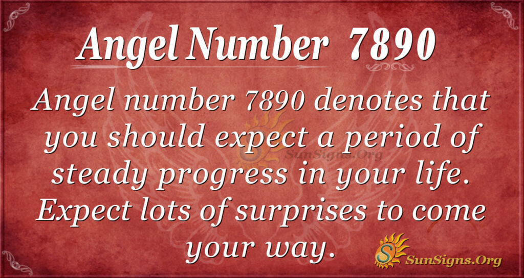 Angel number 7890