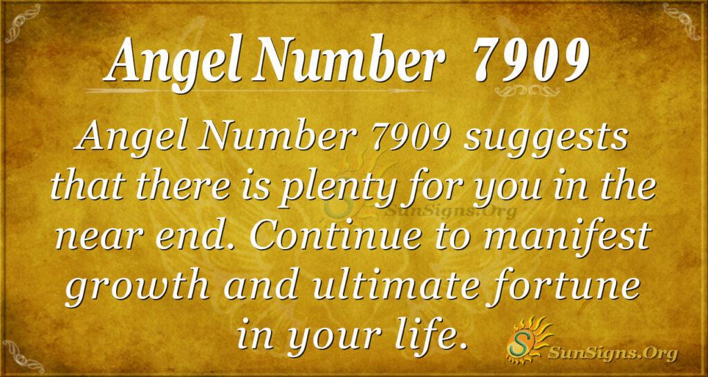 Angel number 7909