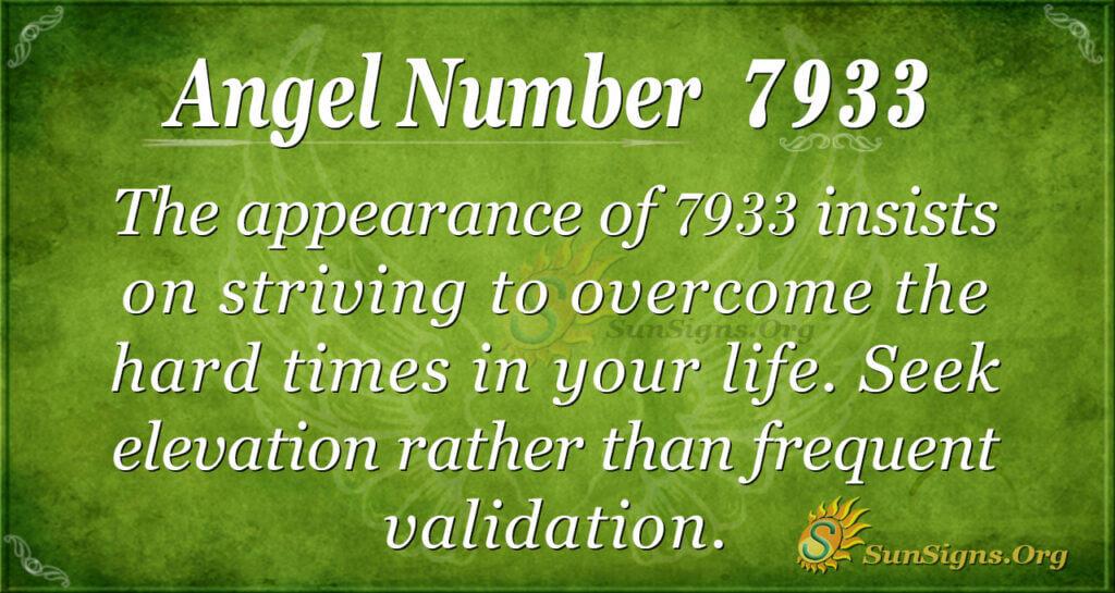 Angel number 7933