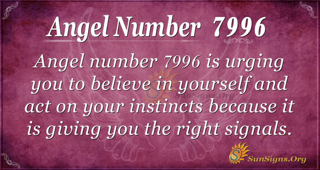 Angel number 7996