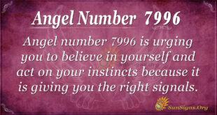 Angel number 7996