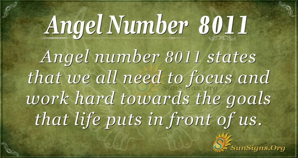 Angel number 8011