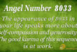 Angel number 8033