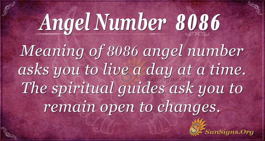 Angel number 8086