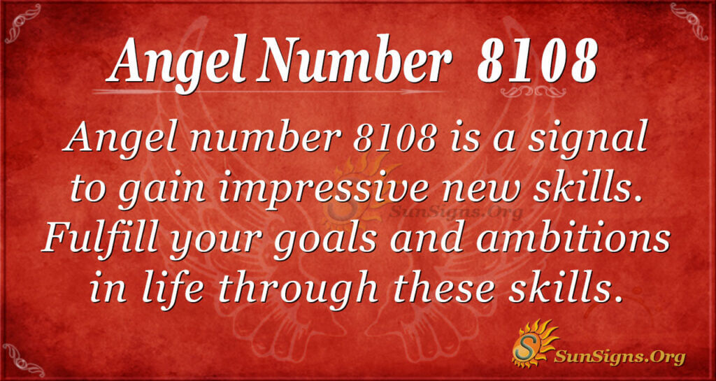 Angel number 8108