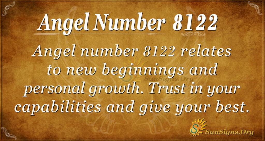 Angel number 8122