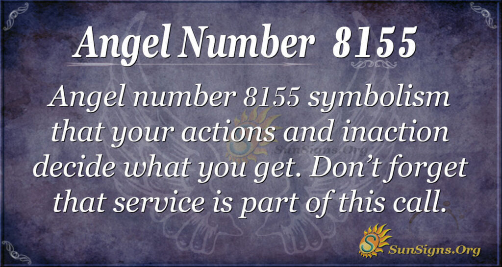 Angel number 8155