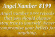 Angel number 8199