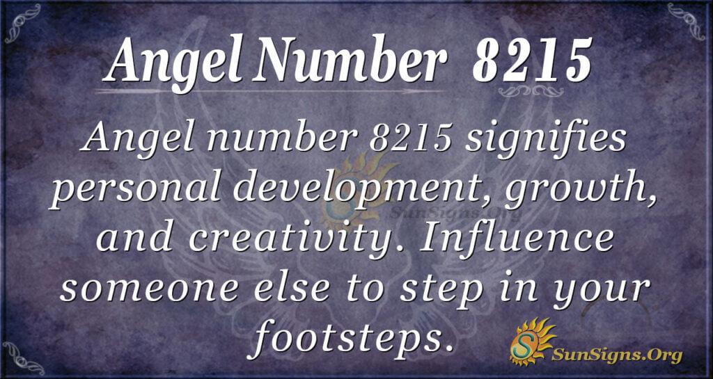 Angel number 8215