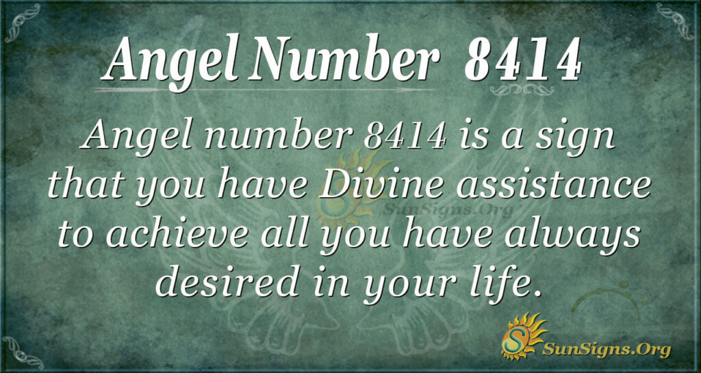 Angel number 8414