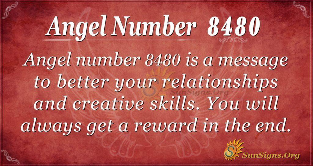 Angel number 8480
