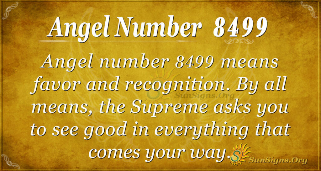 Angel Number 8499