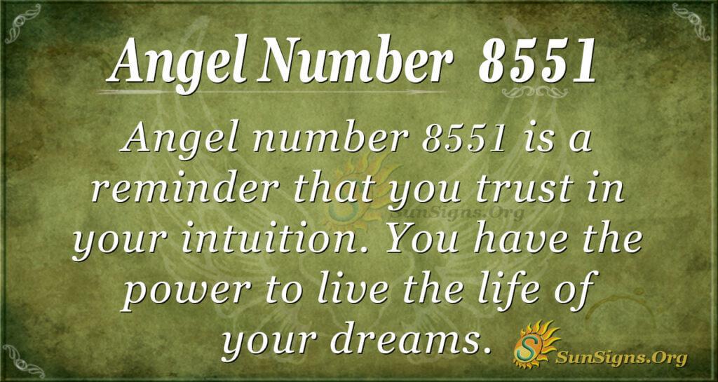 Angel Number 8551